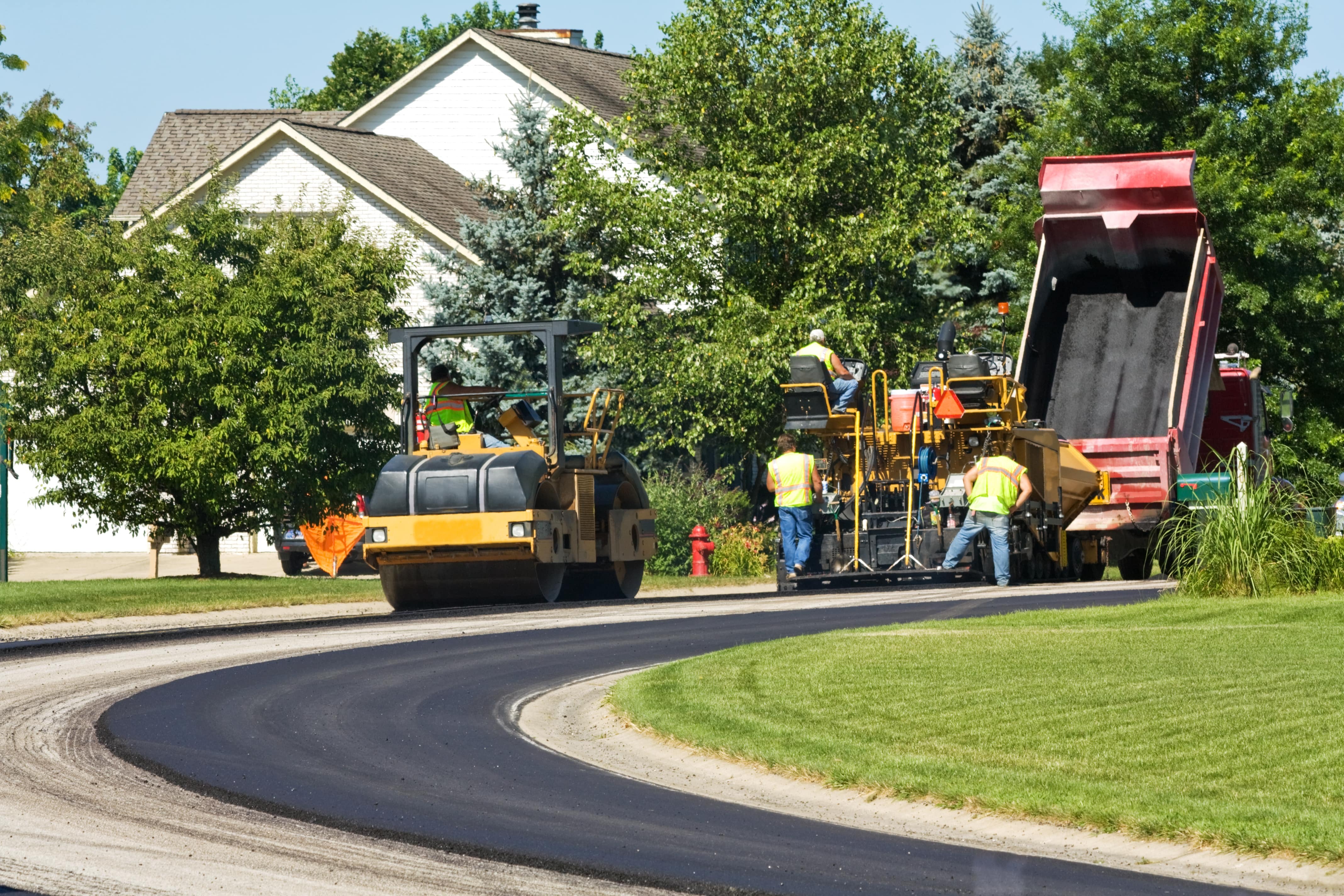 Paving New Subdivision roadway in East Greenwich RI