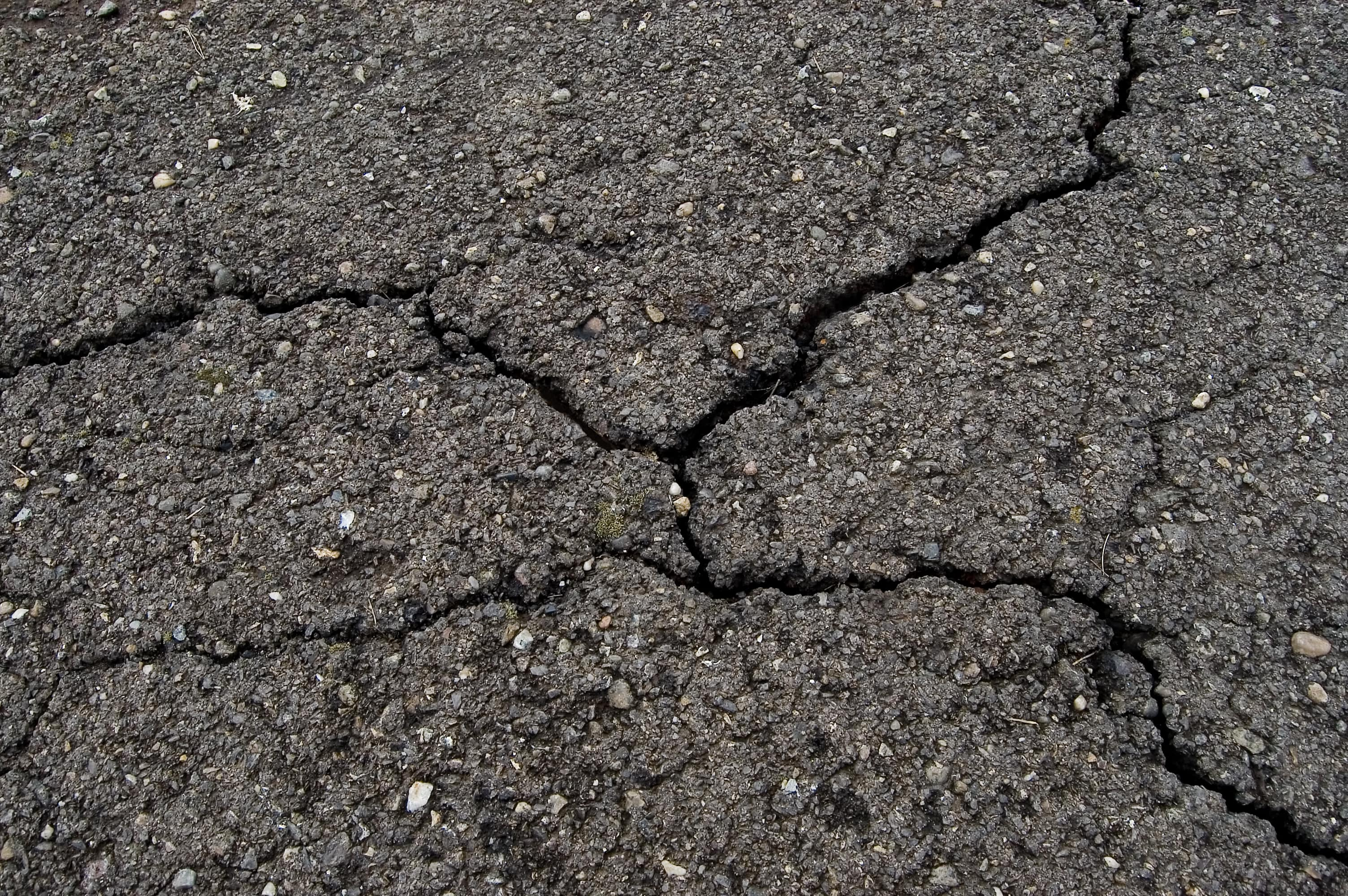 Cracked driveway in Cumberland RI